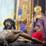 Sevilla 2014. Besamanos Cristo del Amor, en el Salvador (8)